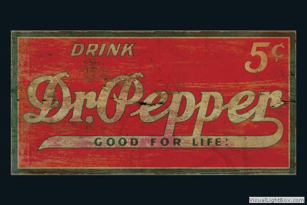 Vintage Dr Pepper Sign 48